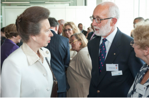 Patrick Mark, Branch Chairman in conversation with HRH
