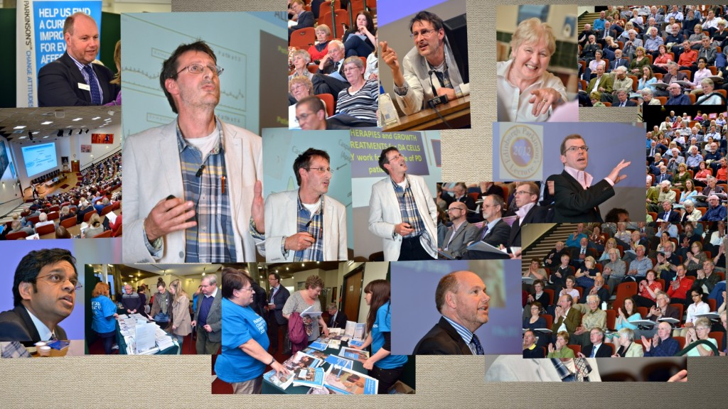 Collage of images from the Edinburgh Parkinson's Lecture 2012