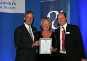 Pat Stewart With PDS Honorary Life Membership Award At PDS Glasgow Conference 2012