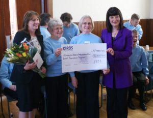 Singing4Fun, £8000 Donation from RBS 2013 with Song-Leader Wendy Carle-Taylor
